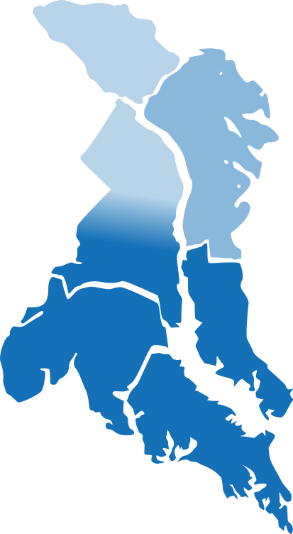 areas served map blue